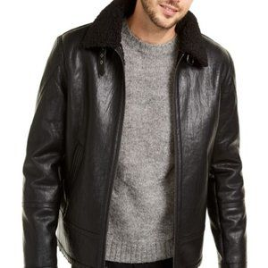 Faux Leather Shearling Motorcycle Jacket
